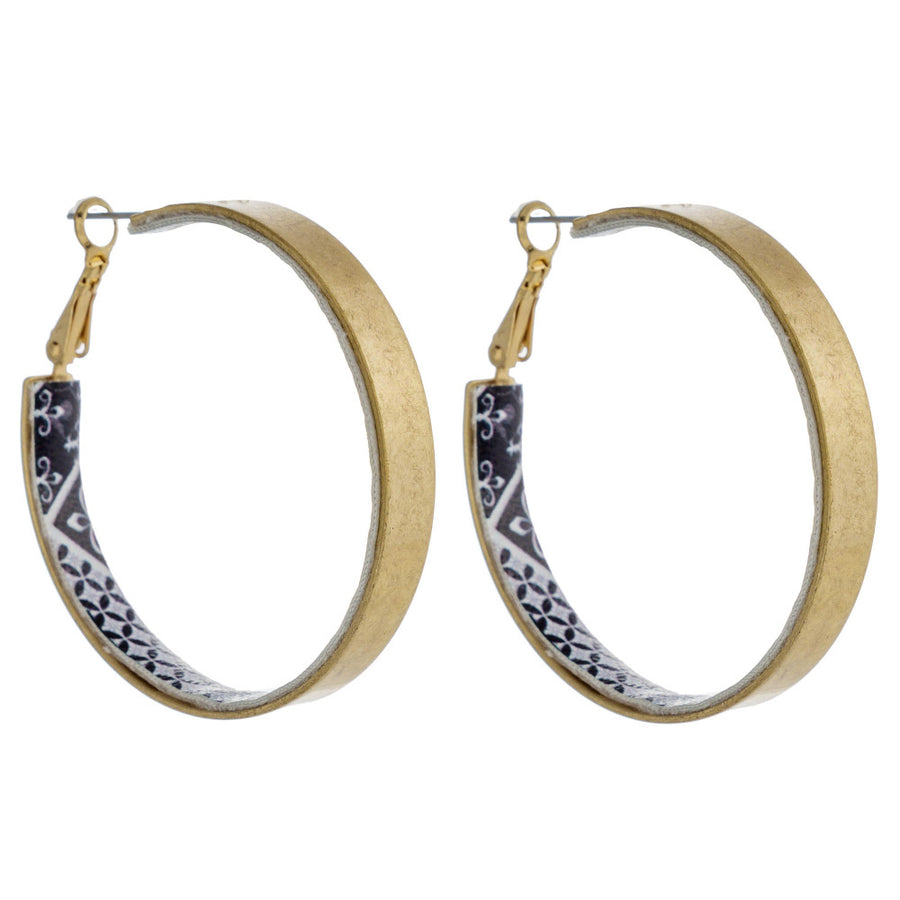 Hoop Pattern Earrings