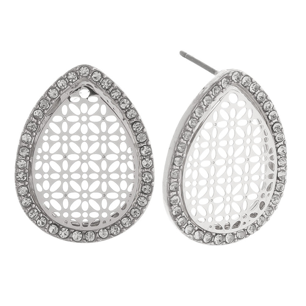 Teardrop Filigree Stud