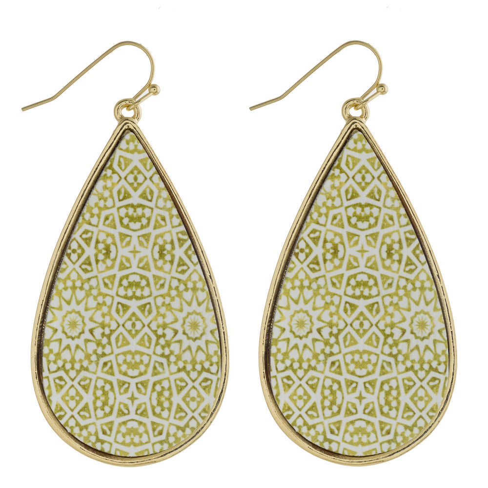 Moroccan Wood Earrings