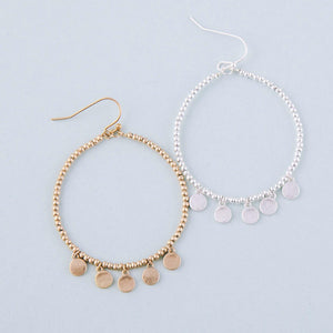 Dangle Earrings with Disc Accents