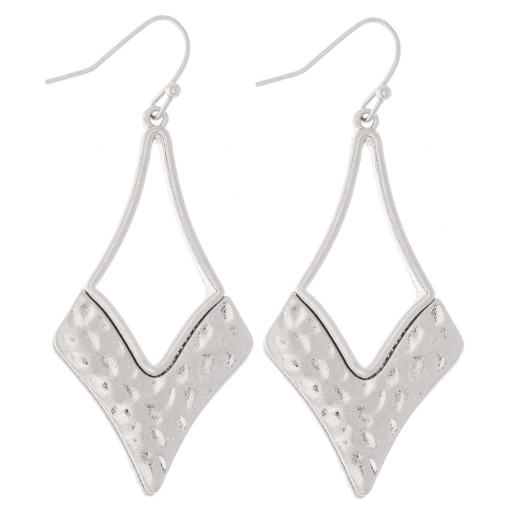 Hammered Drop Earrings