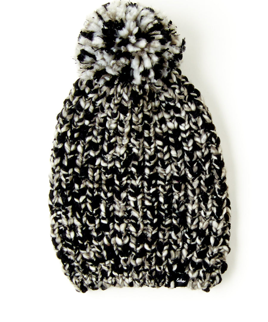 Heathered Roving Hat with Pom