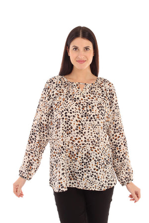 Notch Neckline Blouse