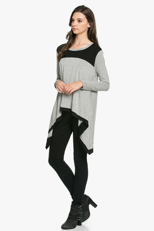 Two Tone Asymmetrical Top