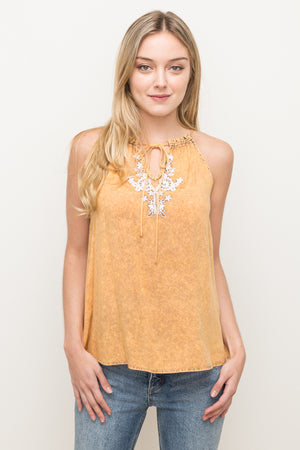 Embroidered Dye Top
