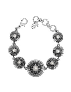 Lucky Brand Silver Pearl Link Bracelet