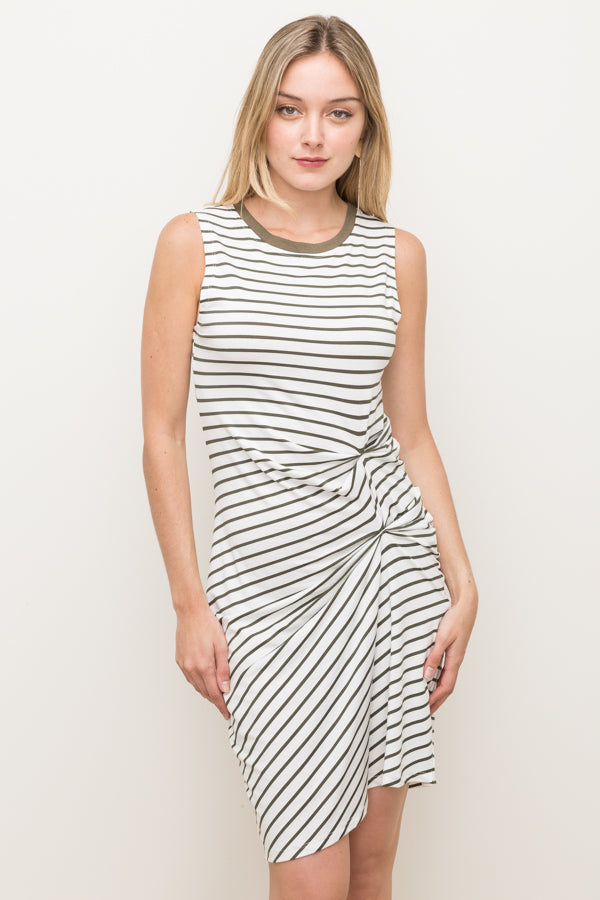Cinched Striped Dress