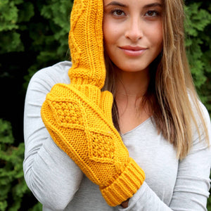 Fleece Lined Knitted Mittens