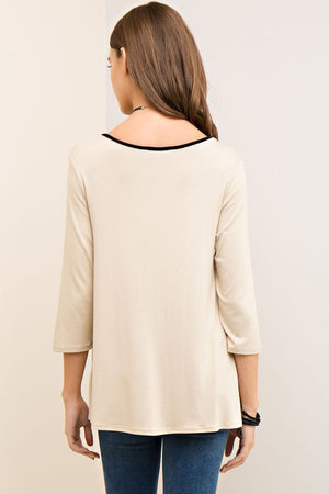 Solid Plunging Neck Top