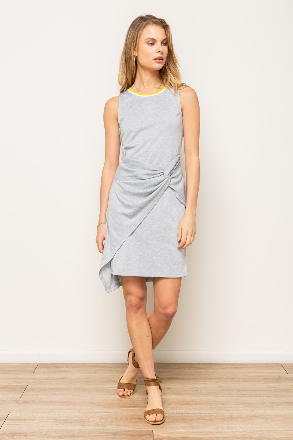 Twist Asymmetrical Dress