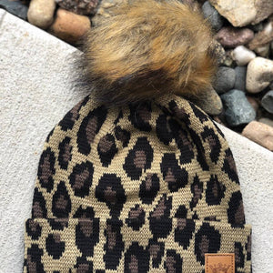Leopard Knitted Kids Hat