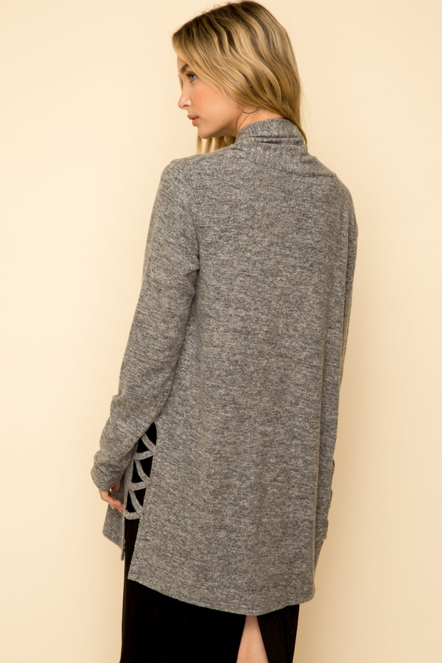 Lattice Brushed Cardigan