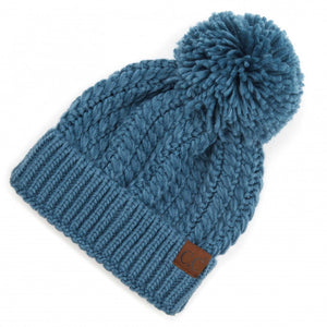 Twisted Mock Cable Beanie