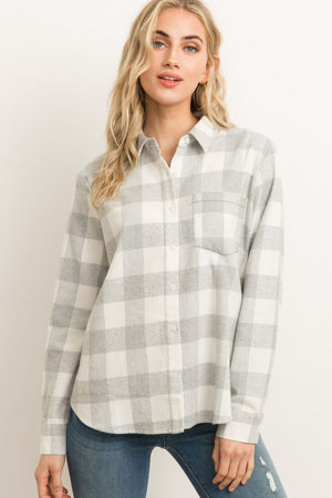 Soft Brushed Button Down Top