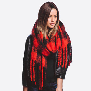 Buffalo Check Oversized Scarf