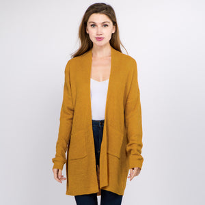 Thin Knit Cardigan with Pockets