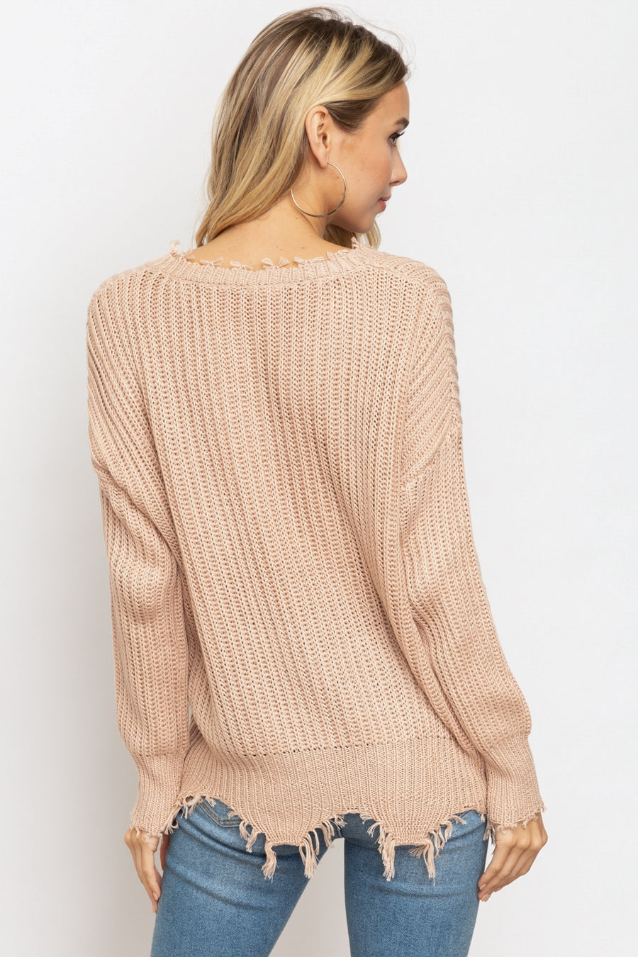 Destroyed V-Neck Sweater