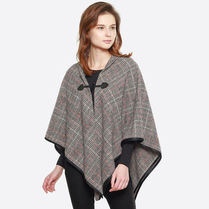 Glen Plaid Cape Shawl