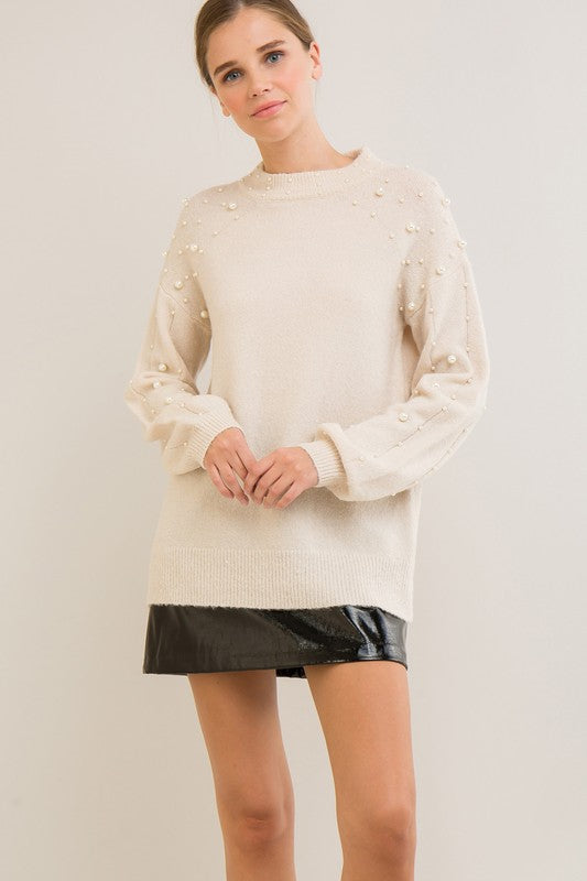 Mock-Neck Sweater Top