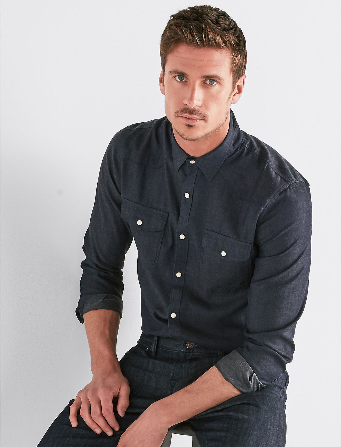 Lucky Brand Solid Western Shirt