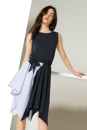 Asymmetrical Colorblock Dress