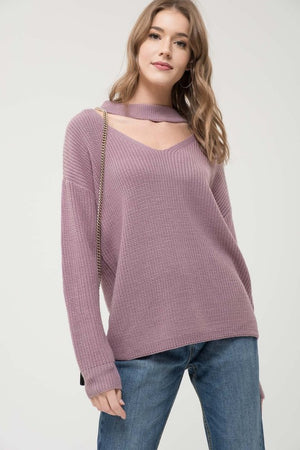 Halter Neck Sweater Top