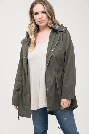Cargo Jacket with Adjustable Waist