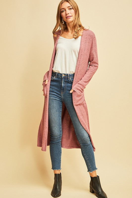 Heathered Long Cardigan