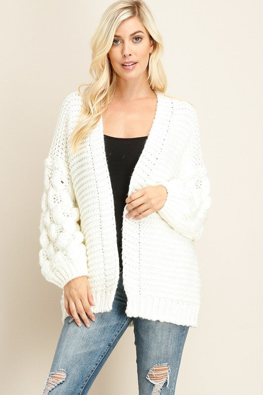 Crochet Knit Cardigan Sweater