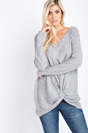 Twist Front V-Neck Thermal Top