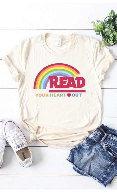Reading Rainbow Graphic Tee