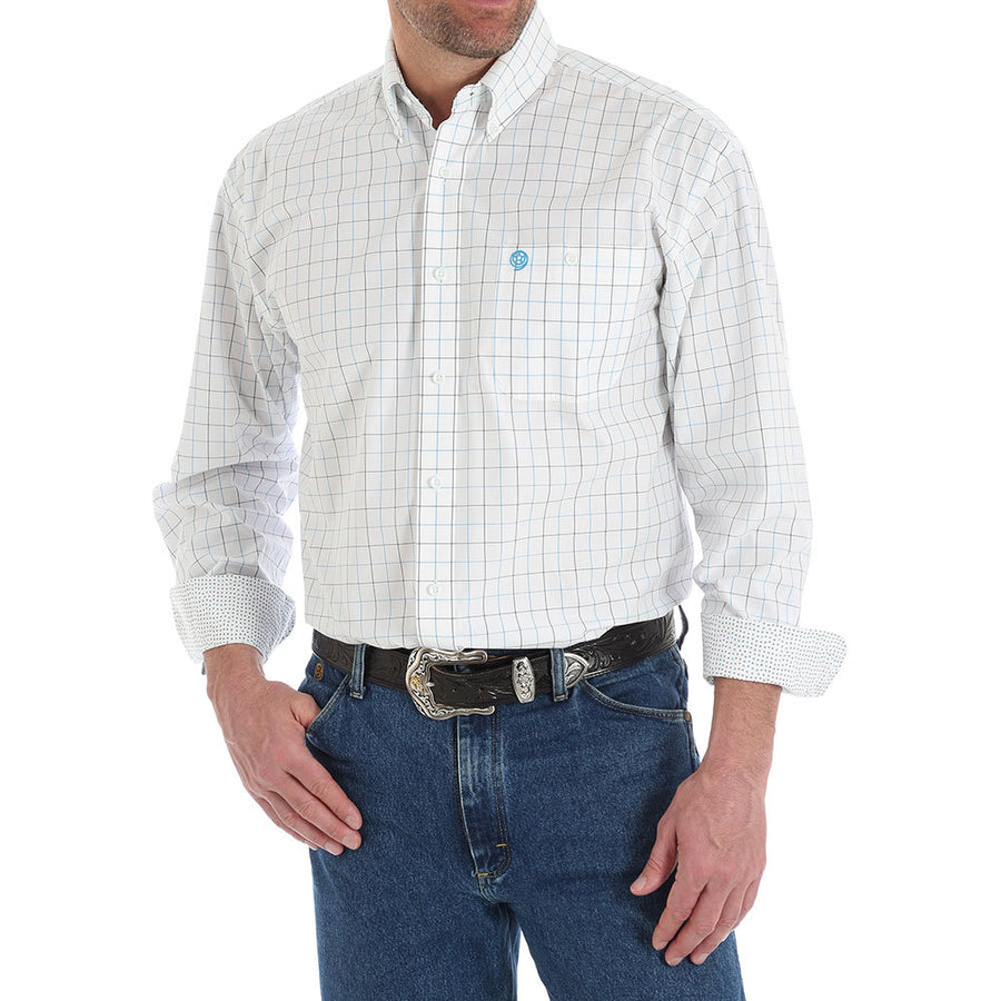 George Strait Long Sleeve Plaid Button Down