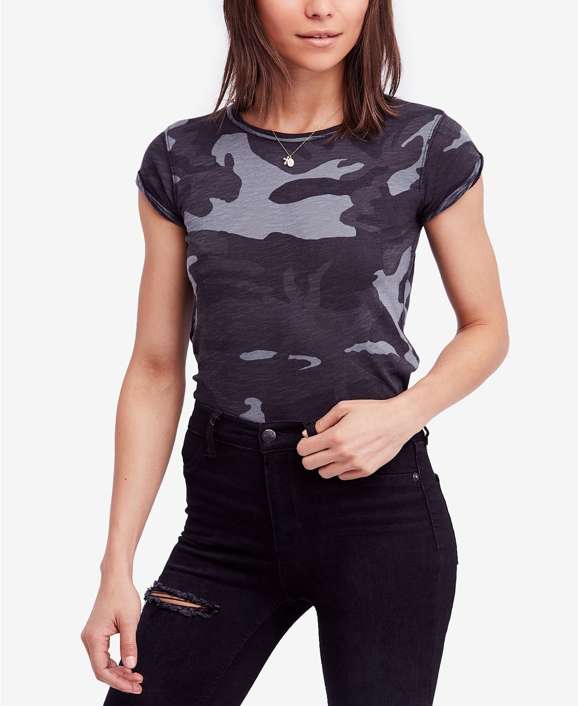 Free People Clare Printed Tee