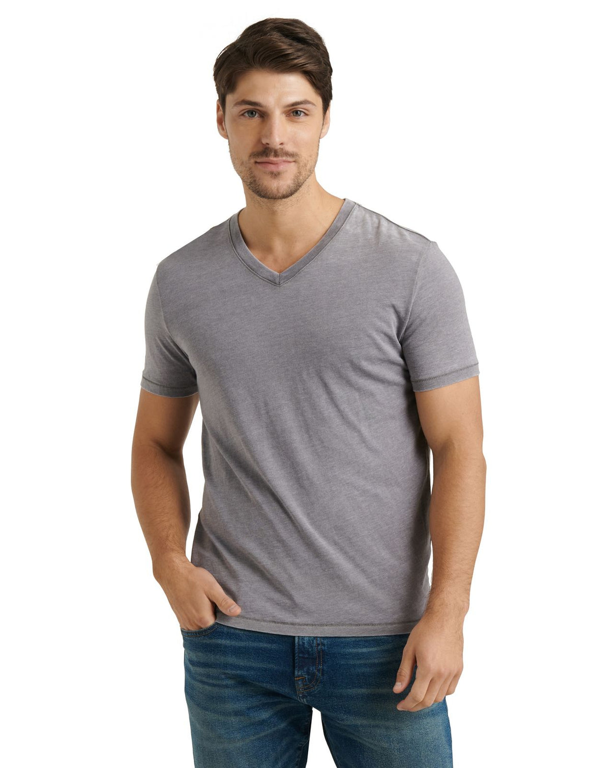Lucky Brand Venice Burnout V-Neck