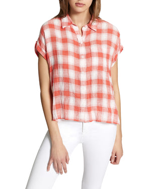 Mod Short Sleeve Boyfriend Shirt