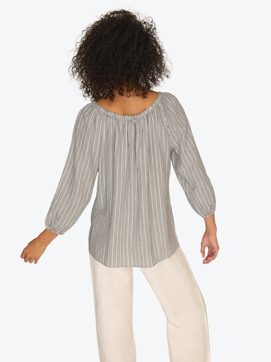 Iris Ballet Neck Top Eco Stripe