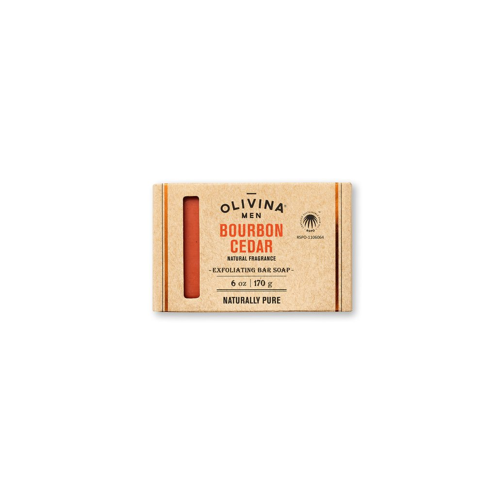 Exfoliating Soap Bar - Bourbon Cedar 6 oz