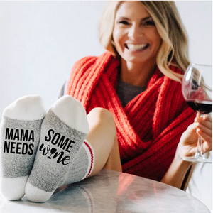 Mama Needs Some Wine Socks