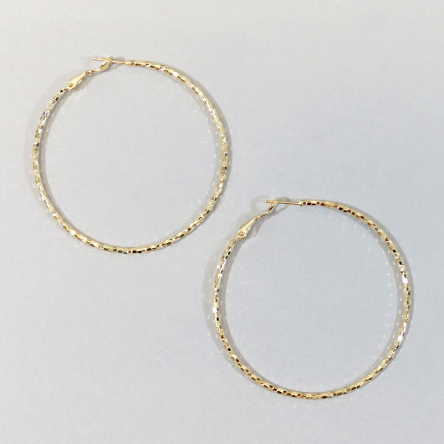 Oversized Textured Hoops