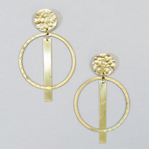 Textured Metal Earrings