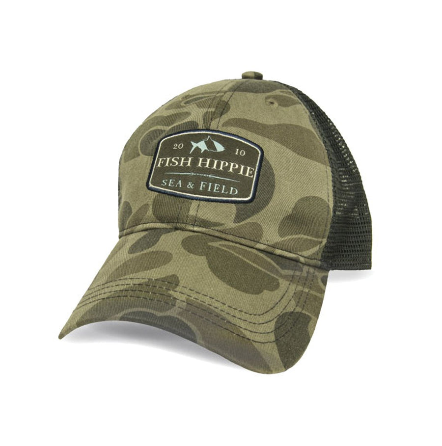 Fish Hippie Camo Trucker Hat