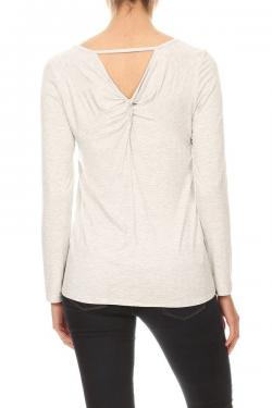 Long Sleeve Top with Twisted Back