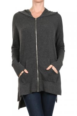 Zip-Up Jacket with Side Pockets