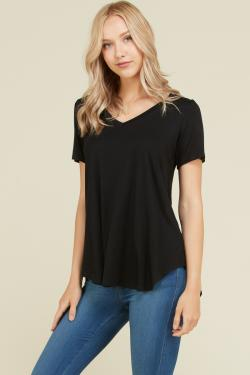 Basic V neck Hi Low Top