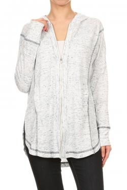 Oversized Front Zip Jacket
