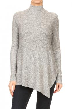 Brushed Mock Neck Top