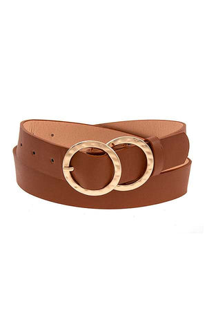 Wide Double Ring Fashion Belt