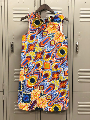 Multi Color Dress with Tie Back