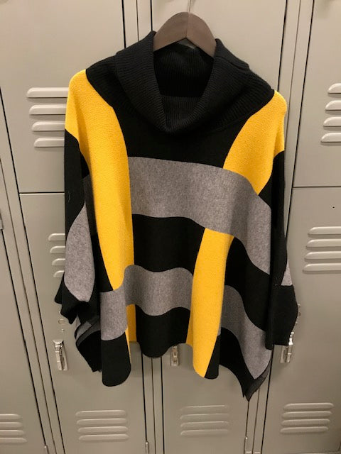 Oversized Multicolor Block Sweater