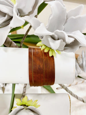 Leather Cuff with Slits